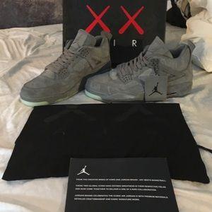 Kaws x Jordan Retro 4 Cool Grey Sz 12